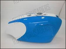 NEW BSA B25 B44 STARFIRE BLUE AND WHITE PAINTED STEEL PETROL TANK (CODE421)