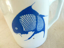 Asian Blue Fish Mug  Koi Catfish Made in China