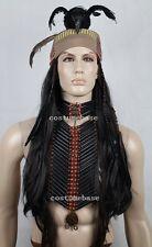 Exact THE TONTO WIG w/ BANDANA crow feather lone ranger Costume Free Shipping
