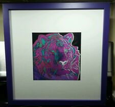 Andy Warhol Tiger I, Lithography, Prof. Framed, Museum Glassed, Acid Free Backed