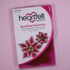Heartfelt Creations Cling Rubber Stamp Set ~ Sparkling Poinsettia, HCPC3680 ~NIP