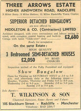 1959 Three Arrows Estate Bungalows £2, 680 And 3-bed Semi  £2, 050 Middleton