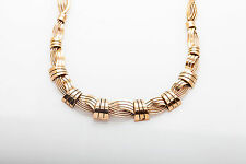 "Antique 1940s $7000 14k Yellow Gold RETRO Heavy 16"" Necklace 41g"