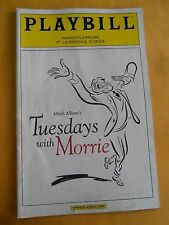 Dec. 2005 - Parker Playhouse Theatre Playbill - Tuesdays with Morrie - H. Gould