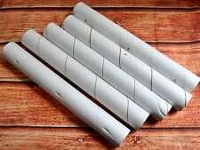"5 Empty Plastic-Wrap Rolls 11.25"" Hard Heavy Duty Cardboard Tubes Craft DIY Art"