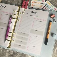 A5 Planner Size Insert Filofax Kikkik Punched Day On 1 Page (1month) 6 Months