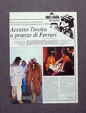 AH62 - Clipping-Ritaglio -1981- NIKI LAUDA ALLA PENNA