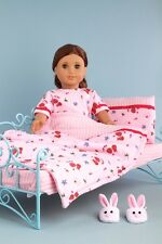 Perfect Bedding Set for 18 inch American Girl Doll, Comforter Blanket Pillow