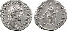 Empire Romain, Antonin le Pieux, denier, 159 160 Rome, PACI AVG COS III, Paix -1