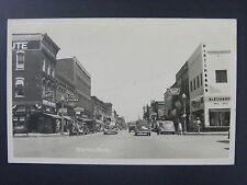Alpena Michigan MI Street View Store Signs Cars Photo Postcard RPPC 1930-50