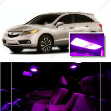 For Acura RDX 2007-2012 Pink LED Interior Kit + Pink License Light LED