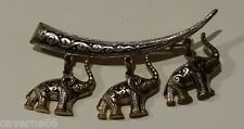 ANCIEN BIJOU VINTAGE BROCHE OR DE TOLEDE DAMASCENE ELEPHANT # B161