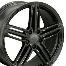 "18"" Wheels For Audi A4 A6 A8 Q5 VW CC Lux Rims 18x8 Inch 5x112 Black Rims Set"