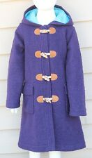 Mini Boden Navy Blue Wool Coat 7 8 Girls Boys Duffle Toggle Holiday Church Warm