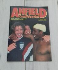 406) Anfield Confidential magazine November 1997 issue with poster