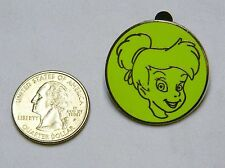 DISNEY GREEN FACE TINKERBELL TRADING PIN B144