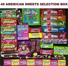 49 AMERICAN USA SWEETS CANDY GIFT SELECTION BOX: WONKA NERDS, TOOTSIE +MANY MORE