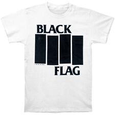 New Black Flag Band Bars Logo White Punk Music Shirt (S) badhabitmerch