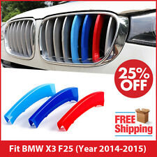 M-Tech Kidney Grille 3 Colour Cover Stripes Clips for BMW X3 F25 LCI 2014-2015