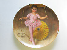 """Knowles Collectors Plate ~ """"Katie The Tightrope Walker""""~ by John McClelland"""