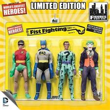 DC Comics Retro 8 Inch Action Figures Fist Fighting Action Series 2 Four-Pack
