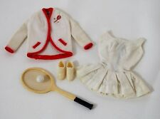 BARBIE DOLL VINTAGE TENNIS ANYONE OUTFIT #941 SHOES, RACKET BALL 1962 CLOTHES