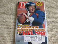 JOHN ELWAY featured on the cover of the TV GUIDE Aug 29 1998 Denver Broncos  NFL