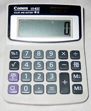 "Gray 3 1/4 X 4 1/2"" Resin Canon LS-822 Solar Portable Calculator"