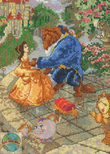 Cross Stitch Kit ~ Thomas Kinkade / Disney Beauty and the Beast #52555