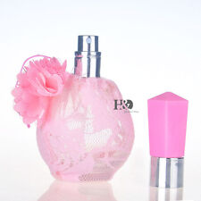 Empty Pink Lace Crystal Glass Perfume Spray Bottle Atomizer Refillable Gift H47