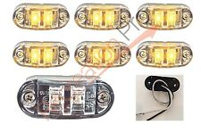"""6 NEW 2.6""""x1"""" CLEAR/AMBER SURFACE MOUNT LED CLEARANCE MARKER LIGHTS EL-112602CA"""