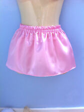 baby pink satin skirt tutu adult baby adult child sissy cd tv fancy dress 32-40