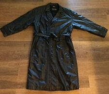 WILSONS LEATHER Designer Coat 100% LEATHER Size Large L Trench Long Jacket