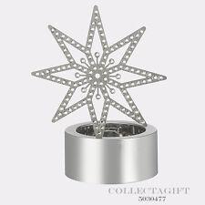 Authentic Swarovski Tea Light Silver Star Figurine #5030477