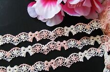 Good quality= Bow embroidery lace trim - price for 1 yard