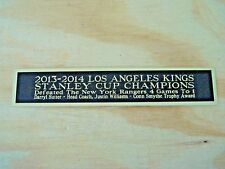 L. A. Kings 2013-14 Stanley Cup Nameplate For A Signed Hockey Photo 1.25 X 6