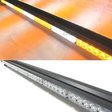 """41"""" 252W LED DOUBLE SIDE WORK STROBE LIGHT BEACON WARNING LIGHTBAR AMBER/WHITE"""