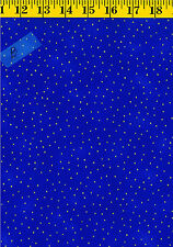 Luxury Blenders Metallic Dots Cotton Quilt Fabric by P&B Textiles 381-B Blue BTY