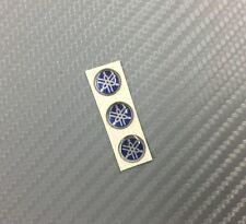 3 Adesivi Diapason SILVER & BLU 3D resinato 10 mm Tmax Xmax R1 R6 MT Racing