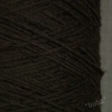 SOFT ALPACA WOOL BLEND 4 PLY YARN 500g CONE 10 BALL DARK BROWN HAND MACHINE KNIT