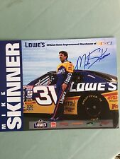 "Mike Skinner/ Autographed NASCAR Photo promo card/ 8.5"" X 11""- Lowe's Racing"