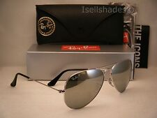 Ray Ban 3025 Aviator Silver w Silver Mirror Polar Lens (RB3025 003/59 58mm size)