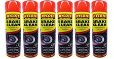 6 x Hycote Brake Part Cleaner Spray Can Aerosol High Quality Leaves Clean 600ml