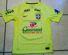 Rare NIKE Brazil National Team  WC2014 NEON Training Jersey Men's Small