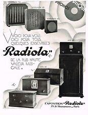 1920's BIG Original VINTAGE Old Antique Radiola Radios Art Deco Print AD