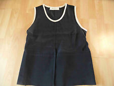MARNI chices Top m. Seide schwarz creme Gr. 44 ( 38 ) TOP BSu516