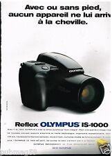 Publicité Advertising 1991 Appareil photo Reflex Olympus IS-1000