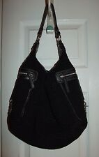 The Sak Hobo Knit Purse - Black with Silver Hardware