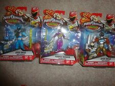 POWER RANGERS DINO SUPER CHARGE GOLD, PURPLE AND AQUA RANGERS, ALL UNOPENED