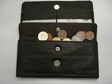 Ladies Leather Purse Wallet Organizer With Many features Hand Crafted Black Gold